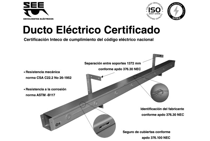 Certified Electrical Wireway Dimensions
