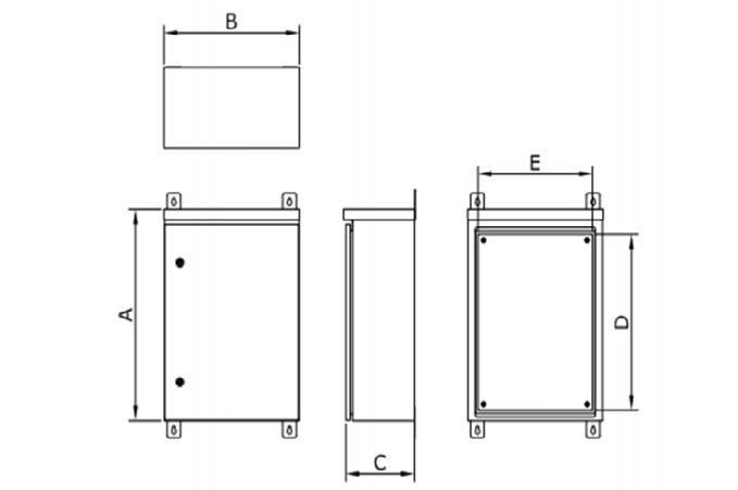 Outdoor Control Cabinet with Roof Dimensions